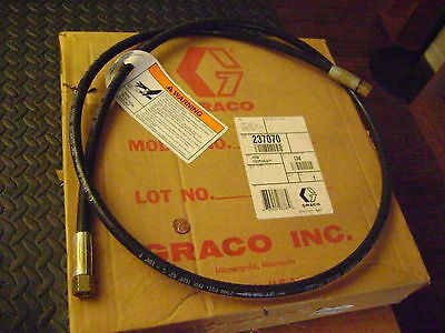 Graco 6 Ft Coupled 1/4 NPSM(fbe) Hydraulic Hose 237070  7400psi 180F
