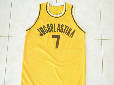 6e7b1433ac4d Toni Kucok  7 Jugoplastika Yugoslavia New Men Basketball Jersey Yellow Any  Size