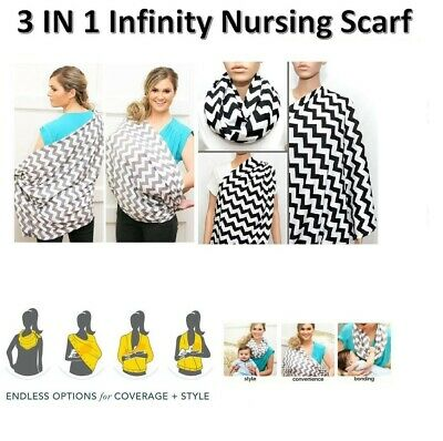 New Infinity Maternity Breastfeeding Nursing Scarf Baby Cover 2 Colors Free Post