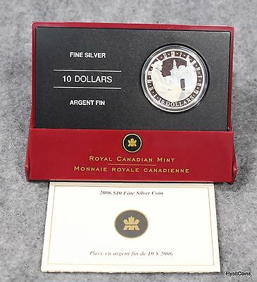 2006 Canada $10 Silver Coin Proof Fortress of Louisbourg Royal Canadian Mint COA