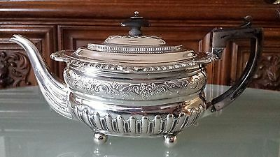 Antique Sterling Silver Teapot J W Stoey & W Elliott 1811 716Gr