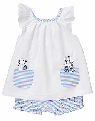 NWT Gymboree Peter Rabbit Bunny Top Bloomer Set Outfit 2PC Baby Girl