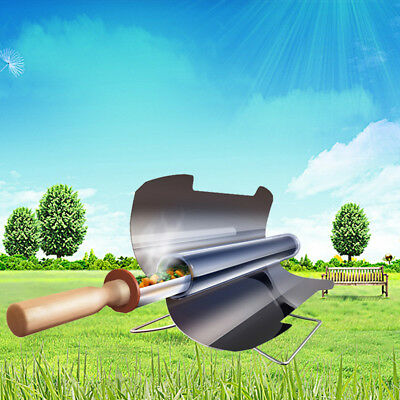 Smokeless Portable Stove Solar Cooker Oven Cooking Camping Outdoor BBQ Grill New