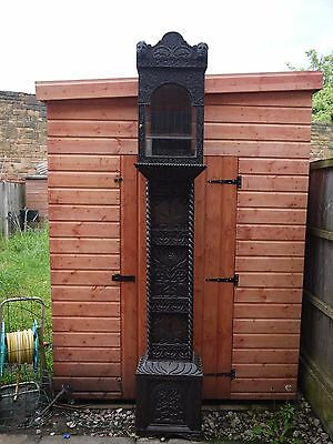 Very Rare Heavily Carved Oak Grandfather /lantern Clock Case Dated 1667