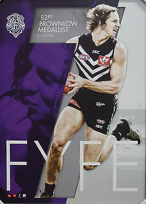 Nat Fyfe 2015 Brownlow Limited Edition Fremantle Dockers Print ONLY