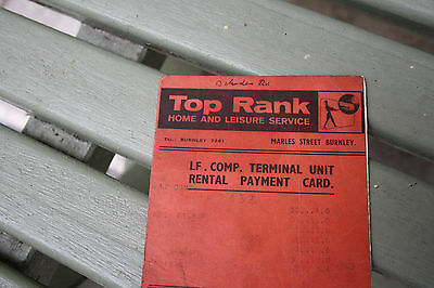 ephemera  VINTAGE  TOP RANK TELEVISON  MARLES STREET  N BURNLEY FILM STAGE PROP