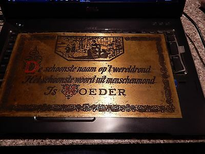 Moeder Shoes Art Deco Brass Plaque Shop Advert  Vgc  32 X 18 Cm