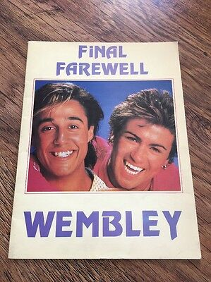 ❣RARE❣️GM COLLECTIBLE PROGRAMME•Final Farewell~Wham! (George Michael)