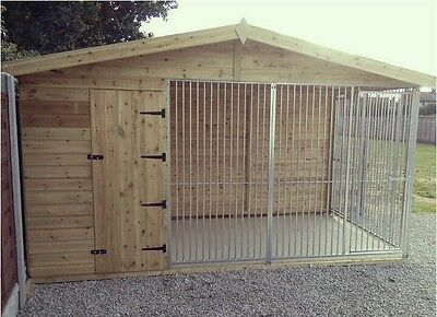 10 ft x 8ft dog kennel and run