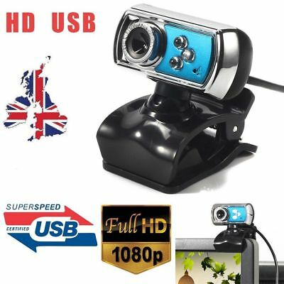 USB Clip-on Webcam Camera HD 12.0 MP Megapixels with Microphone MIC for Computer