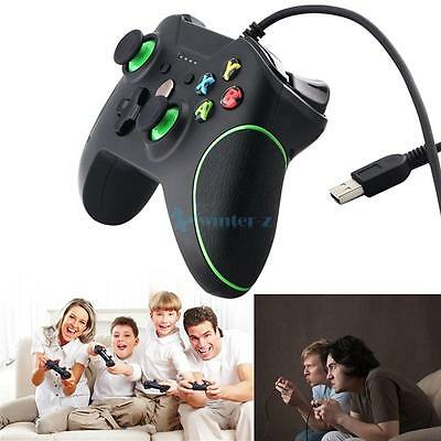 USB Wired Game Controller Gamepad with Dual Vibration for XBOX ONE and PC