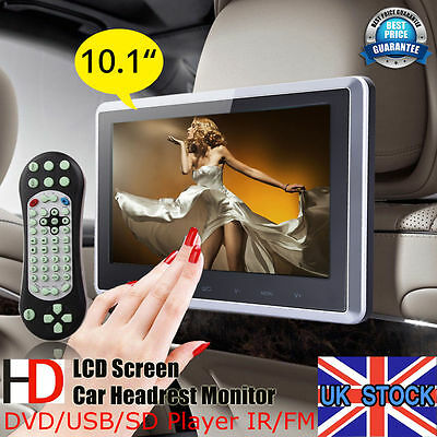 "HDMI 10"" Digital TFT HD LCD Screen Car Headrest Monitor DVD/USB/SD/TV Player"