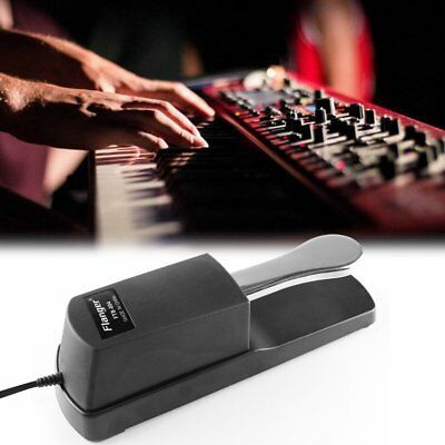 FLANGER FTB-004 Portable Size Metal Alloy Piano Keyboard Sustain Pedal GD