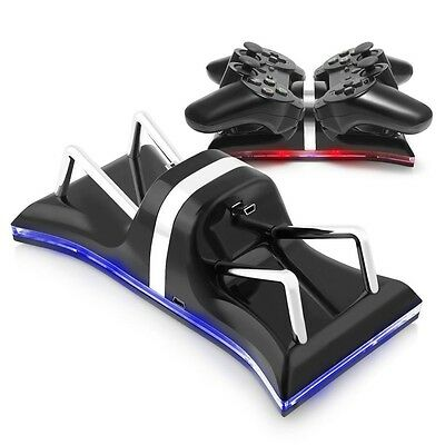 LED Dual USB Charger Station Charging Stand Dock for PS3 DualShock 3 Controller