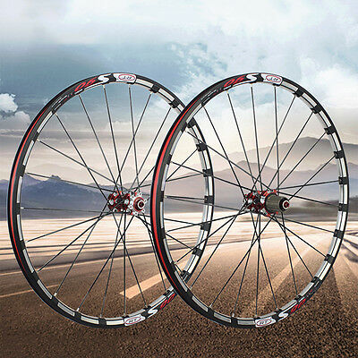 "26/27.5"" MTB Mountain Bike Alloy Rim Carbon Hub Wheel Front & Rear Wheelset Rims"