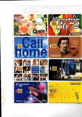 Job Lot 30 Unused French Telecom (Telecarte)  Phone Cards All Different