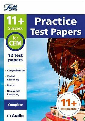 11+ Practice Test Papers for the CEM tests Comp by Letts 11+ New Paperback Book