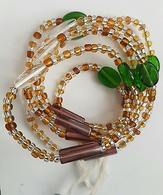 "African Mixed Single Waist Beads, Body Jewellery, 46""inches long New FREE P&P"