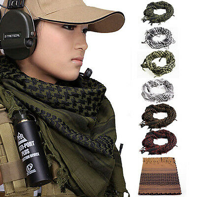 UK Mens NeckerchieTactical Army Shemagh KeffIyeh Military Arab Scarf  Mask Wrap
