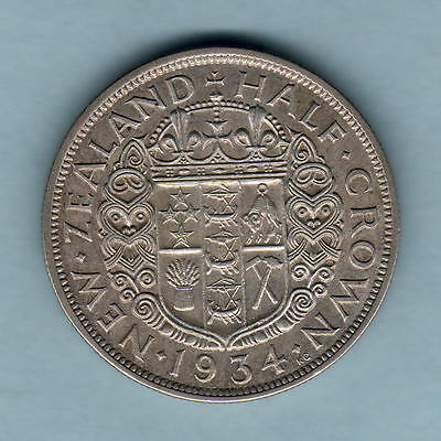 New Zealand.  1934 Halfcrown..  gVF