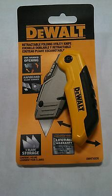 Dewalt Retractable Folding Utility Knife Dwht10035