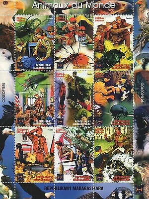 Boy Scouts Animals Of The World Insect Madagasikara  Mnh Stamp Sheetlet