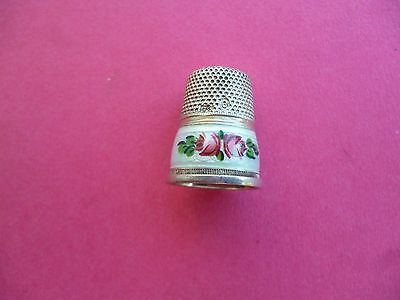 Silver And Enamel Thimble
