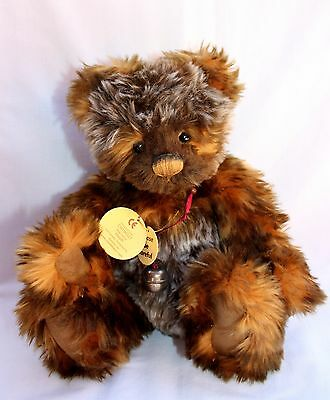 "Charlie Bear 'heath' Cb194517 12"" Bear Designed By Isabelle Lee"