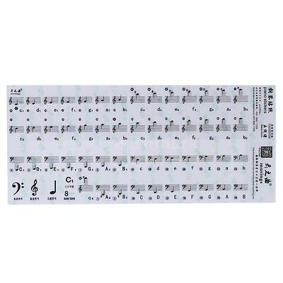 ALL NEW Beginner 49 61 Key Electronic Keyboard 88 Keys Piano Stave Notes Sticker
