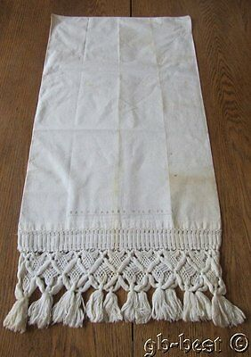 Early Dated 1844 Pillowcase Sham Signed Mary L Wile Fringed