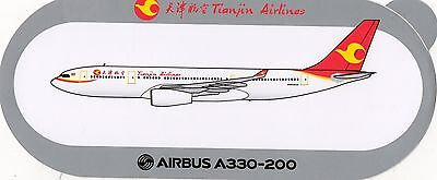 Sticker Airbus A330-200 / Tianjin Airlines