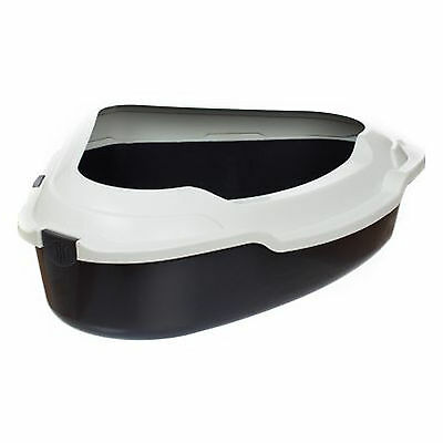 Litter Tray Corner Shape Large Cat Pet Kitten Toilet Removable Edge Open Top XXL