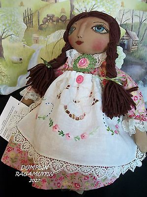 Primitive doll,collectible,OOAK,hand made, original, by,Dumplinragamuffin