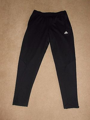 Men's Adidas Black ClimaLite Athletic Pants Size M ~ Tapered Legs