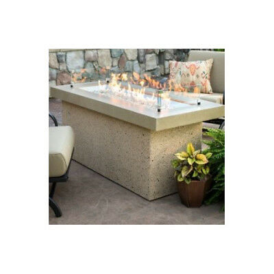 The Outdoor GreatRoom Company Key Largo Crystal Fire Pit Table with Base