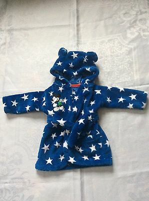 Boys Dressing Gown Mickey Mouse Disney 0-6 Months Vgc