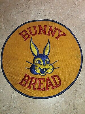 vintage bunny bread 1950s 7 inch delivery driver cloth uniform jacket patch sign
