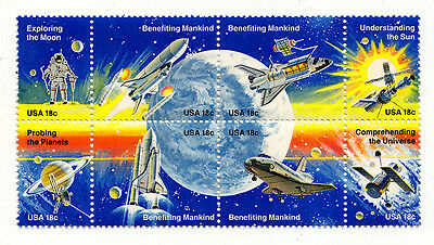 Scott 1919a (1912-1919) - 18 Cent Space Achievement - 1981 Block Of 8