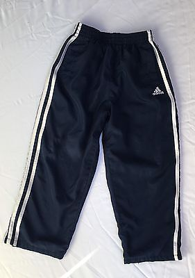 Boys Girls Youth Adidas Tricot Blue White Athletic Track Mesh Lined Pants Size 5