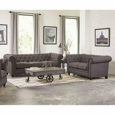 Superb Coaster Chaviano 2 Piece Tufted Sofa Set In White Alphanode Cool Chair Designs And Ideas Alphanodeonline