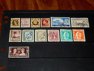 Great Britain Back of Book - Tangier - Morocco - 13 mint hinged and used - nice!