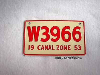 1953 CANAL ZONE Wheaties Cereal License Plate # W3966