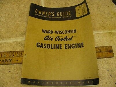 Montgomery Ward ABN AKN Wisconsin Engine Owners Guide Manual