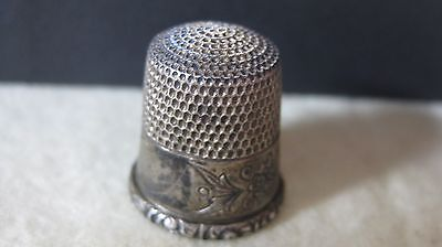 ANTIQUE Simons Brothers Sterling Silver Thimble Size 9, lot 877