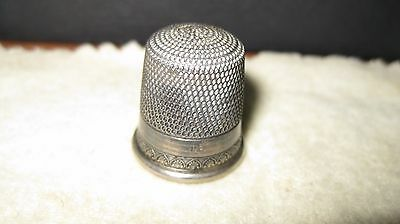 Unusual Antique Sterling Silver Thimble by SIMONS BROS, #12 , lot 870