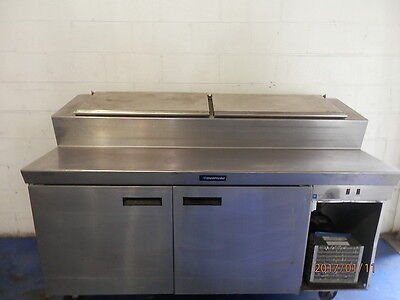 "70"" Delfield 2 Door Pizza Prep Refrigerator Cooler"
