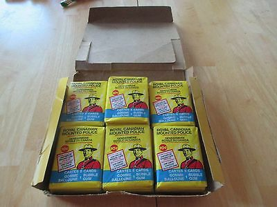 25 Sealed packs of 1973 O Pee Chee RCMP Cards & Bubble Gum With Box