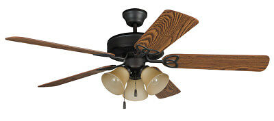 Craftmade BLD52ABZ5C3 Builder Deluxe Indoor Ceiling Fan Aged Bronze Brushed