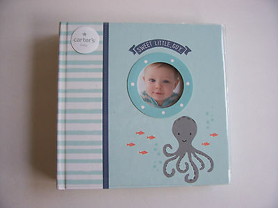 Carter's Baby Boy Photo Album Journal Memory Book Holds 160 Photographs NEW !