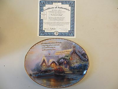 Thomas Kinkade LOCHAVEN COTTAGE #8 of Guiding Lights Collector Plate